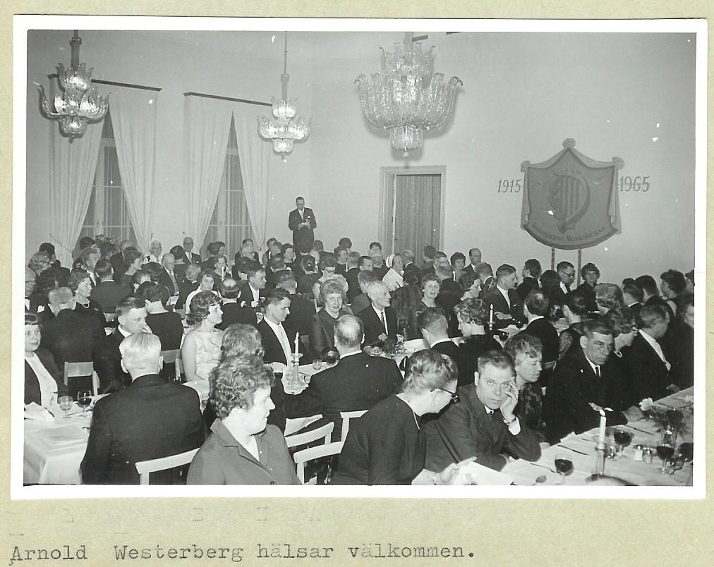 19650327 Jubileumsmiddag på Hotellet
