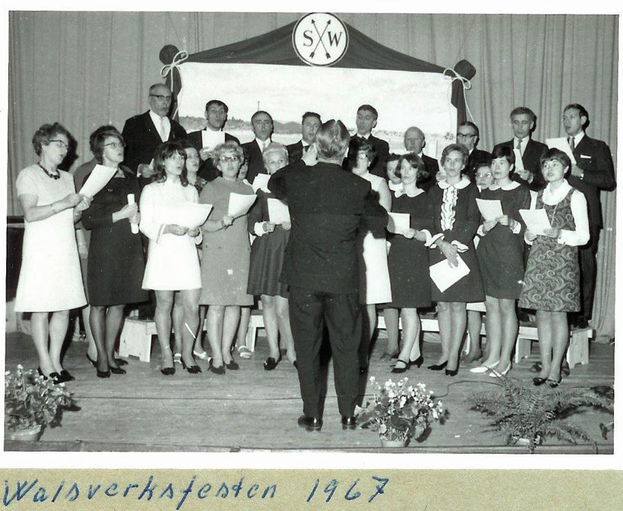 1967 Kören på Valsverksfesten