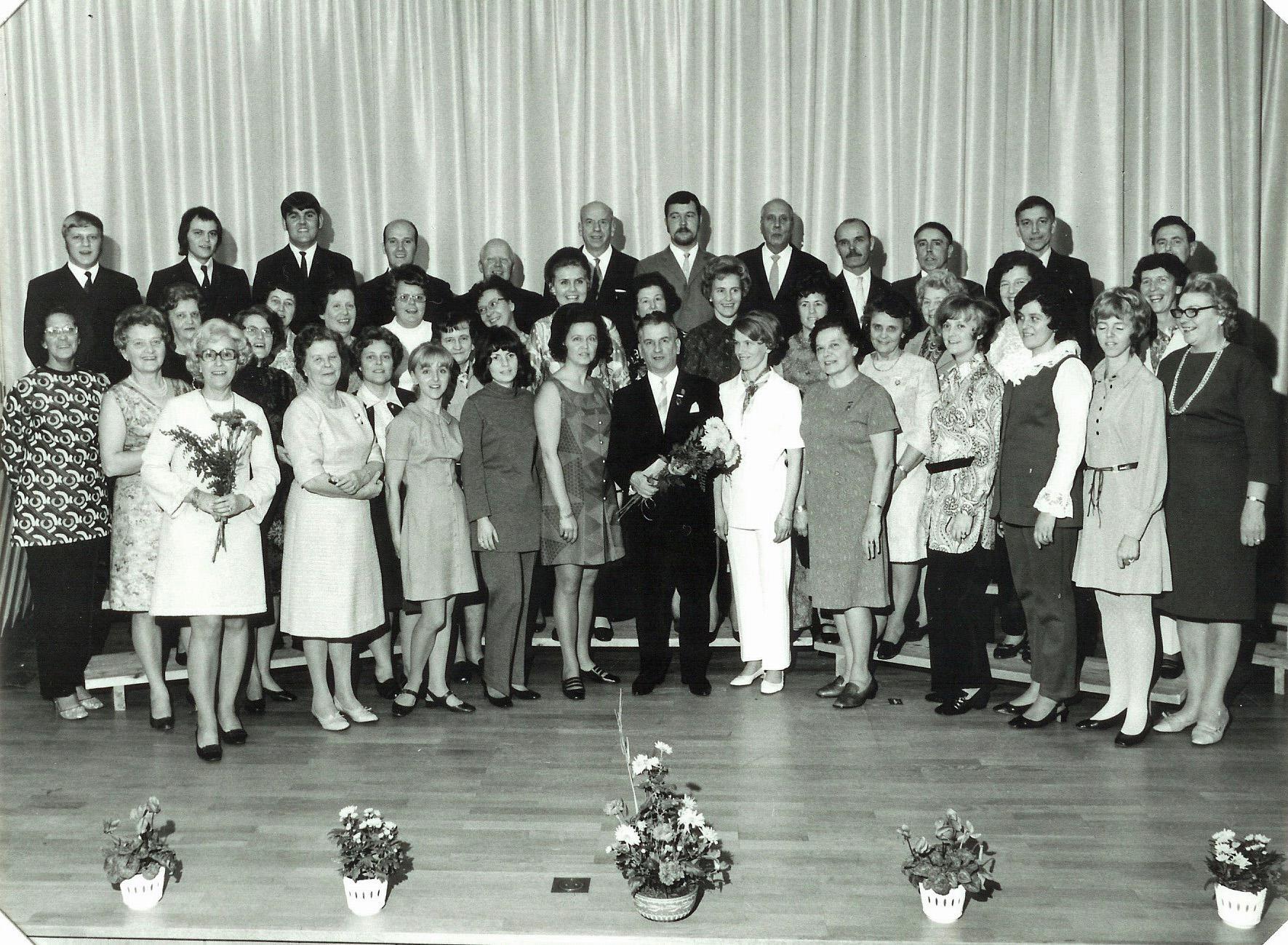 1970 Kyrkokören 55 år