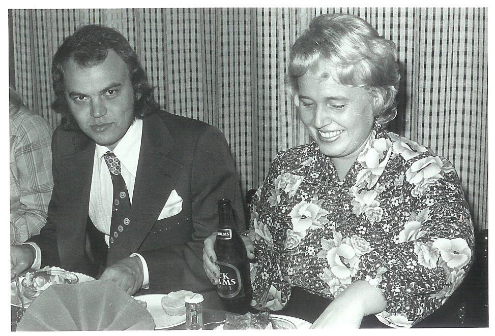 19751025 Jubileumsfest 8a Staffan Carlsson Marianne Lassis