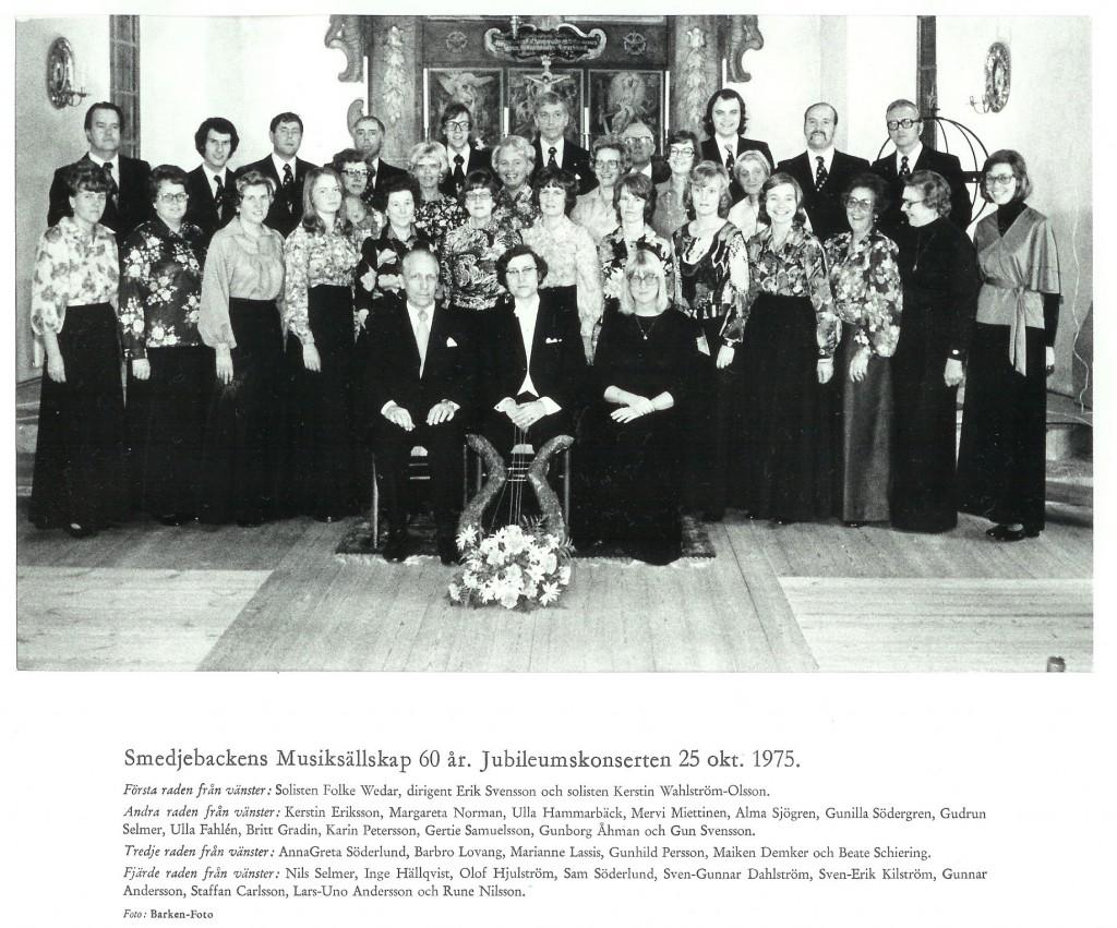 19751025 Kyrkokören 60 år
