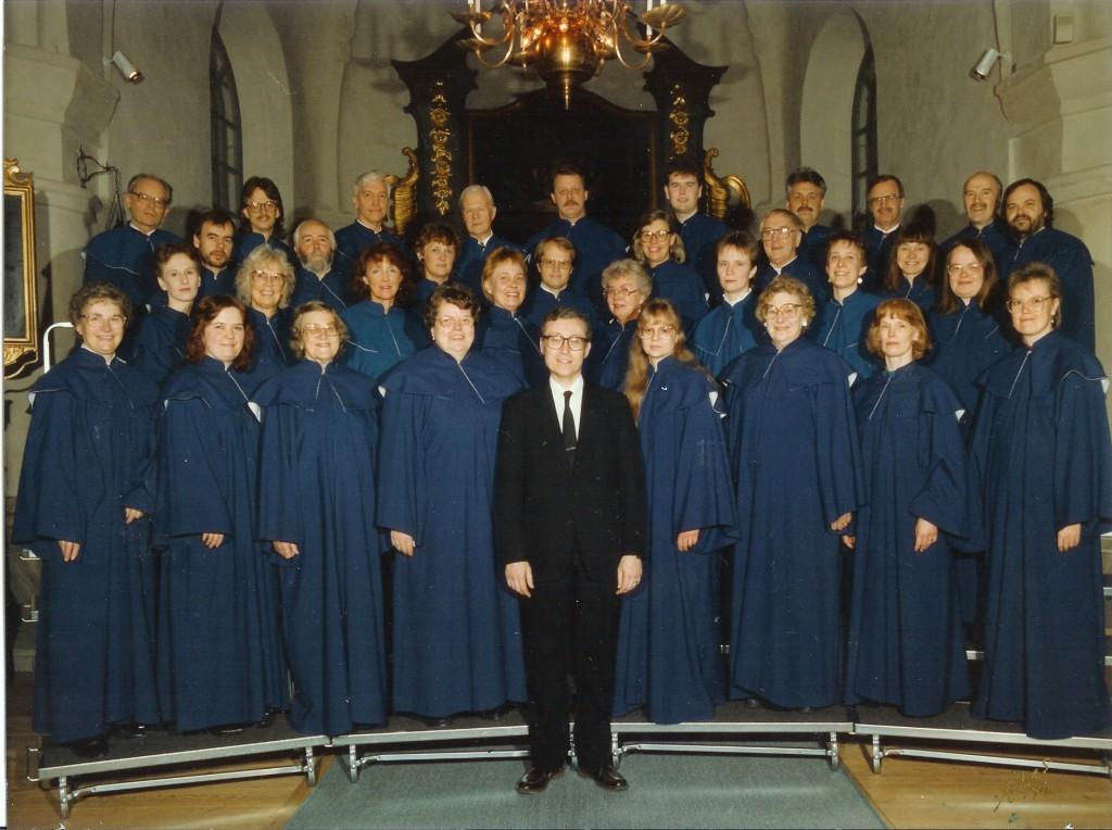 Kyrkokören 1990 i kyrkan